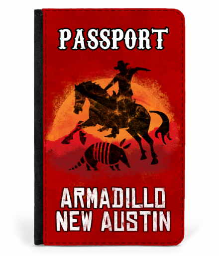 Armadillo New Austin Faux Leather Passport Cover Red Dead Redemption 2